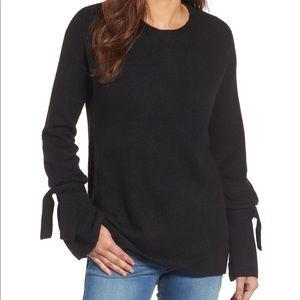 Halogen Tie Wrist Bell Sleeve Sweater Large